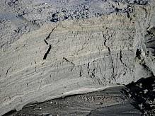 Layers of sea sand.