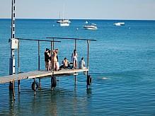 Youth at the marina.