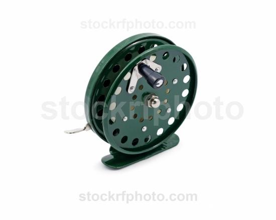 Fishing reel green.