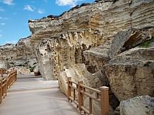Rock trail in Aktau.