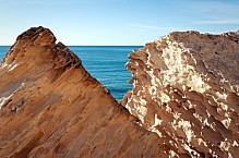 Cliffs by the sea.