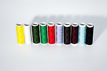 Set of colored thread.