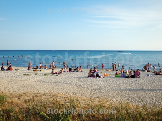 Sandy beach in Aktau.
