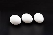 Eggs on black.
